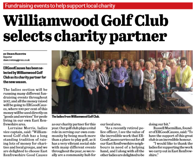 Williamwood Golf Club Ladies Spring Lunch