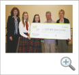 ER Good Causes receiving the cheque from Craigholme School